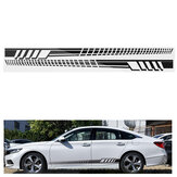 2PCS 205cm Racing Stripe Totem Body Sticker Side Skirt Vinyl Decal Decor