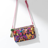 Women Ethnic Style Floral Shoulder Bag Crossbody Bag