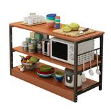 3-х слойная многофункциональная кухонная стеллаж для хранения приправ Полка для хранения приправ Органайзер Рабочая станция для сковород