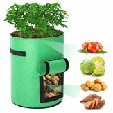 2pcs Grow Bags Tvird Planter Pot Fruit Flower Vegetable Tomato Potato Reusable Bag