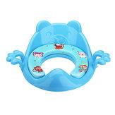 ベビートイレトレーナーかわいい漫画安全なハンドル子供幼児トイレチェアシートベビーポティシート