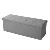 2-in-1 Storage Box Stool Multifunctional Folding Sofa Ottoman Footrest Footstool Square Chair for Home Office