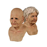 Silicone Female Face Mask Old Woman Latex Mask Party Fancy Dress Party Realistic Halloween