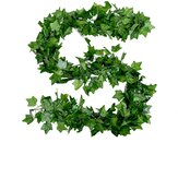 Artificial Ivy Green Leaf Garland Plants Vine Artificial Foliage Flowers for Home Decor Plastic Artificial Flower Rattan String
