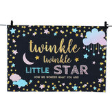 Little Star Backdrop Baby Shower Fotografia tło Party Banner Backdrops 150x100cm 220x150cm 250x180Cm