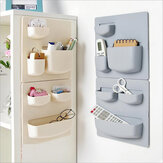 Home Storage Wall Suction Cup Plastic Storage Rack Cosmetic