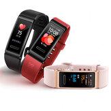 [GPS Positionering] Origineel Huawei Band 4 Pro AMOLED Kleurenscherm SpO2 Bloedzuurstof Hartslagmeter Fitness Tracker Meerdere wijzerplaten Smart Watch