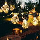 20/50 LEDS Crystal Ball 5 M / 10 M Solar Lamp Power LED String Fairy Lights Solar Slingers Tuin Kerst Decor Voor Outdoor