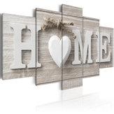 5 Panneaux Love HOME Mur Art Print Pictures Toile Mur Prints Papier Sans Cadre