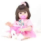 53CM Cute Soft Silicone Vinyl Lifelike Realistic Head Moveable Multi-function Reborn Baby Doll Toy