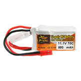 ZOP Power 11.1V 850mah 70C 3S  Lipo Battery JST Plug