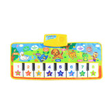 Musical Kid Piano Baby Crawl Mat Animal Educatieve muziek Soft Kick Toy 5 standen