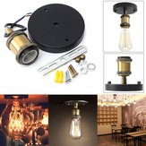 E27 Vintage Retro Industry Edison Ceiling Rose Light Holder para lâmpada de parede rústica Ignition Pear Bush