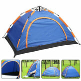 3-4 Person Camping Tent Waterproof Double Doors Automatic Tent UV-proof Portable Sunshade Canopy Outdoor Hiking