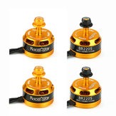 4X Racerstar Racing Edition 2205 BR2205 2600KV 2-4S Brushless Motor Yellow For 210 X220 250 280 RC Drone