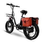 [EU Direct] CMACEWHEEL Y20 48V 24Ah 750W 20in Katlanır Elektrikli Bisiklet ile Çanta 45km / s Maksimum Hız 100km Menzil E Bisiklet