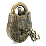 Metal Cast God Lock Puzzle Retro Vintage Lock IQ&EQ Mind Brain Teaser Souptoys Gift