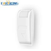EARYKONG Detector infravermelho com cortina de janela passiva com fio PIR Movimento Sensor Compensação de temperatura de suporte para alarme doméstico