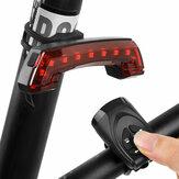 ذيل USB قابل لإعادة الشحن ضوء مع دراجة تحذير القرن الخلفي ذكي مصباح دراجة لاسلكي مراقبة