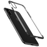 Baseus Plating Ultra Thin Clear Transparent Hard PC Protective Case for iPhone X