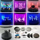 DIY Dönen LED Elektronik Kit Elektronik Üretim Dönen POV Elektronik Yarışması Yaratıcı LED Reklam Makinesi