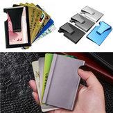 屋外旅行の盗難防止メタルスリムクレジットカードホルダーRFIDブロッキングウォレットマネークリップの財布