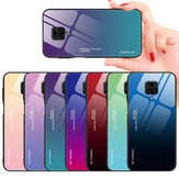 Bakeey for Xiaomi Redmi Note 9 Case Gradient Color Tempered Glass Shockproof Scratch Resistant Protective Case Non-original