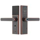 Parmak İzi Akıllı Şifre Kilit Ahşap Kapı Otel Bluetooth Kilit Erişim Kontrol Ofisi Akıllı Kilit