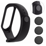 3pcs Wacth Clasp Black Metal Button in Watch Strap for Xiaomi Mi Band3