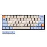64 Key OEM Profile Dye-sub PBT Keycaps Keycap Set for GK64 Mechanical Keyboard