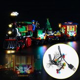 DIY LED Lighting Kit ONLY For LEGO 10254 Christmas Winter Holiday Train Bricks Toy