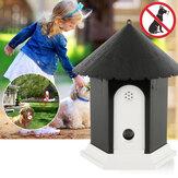 Dispositivo repelente ultrassônico de animais ao ar livre para jardim Cachorro Dispositivo de controle de casca para dissipador de animais domésticos