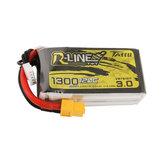 TATTU R-LINE Version 3.0 14.8V 1300mAh 120C 4S Lipo Battery XT60 Plug for FPV RC Drone