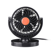 DC 12V/24V 360° All-Round Mini Auto Air Cooling Fan Adjustable Low Noise