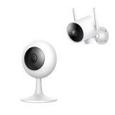 IMILAB 1080P Câmera IP inteligente de 120 ° 3,9 mm IR Monitor de segurança doméstica de visão noturna de áudio bidirecional Versão chinesa com EC3 3MP 180 ° Rotação Smart US Câmera IP externa