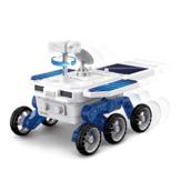 DIY Solar Planet Rover STEM-montage Vierwielaandrijving Elektrische wetenschap en educatief modelspeelgoed