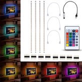 4pcs 50cm 5050 USB Alimentado RGB Cor Alterar LED Strip Computador USB TV Retroiluminação Luz DC5V