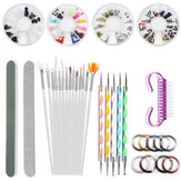 Dotting Pen Kit Nail Brush Dotting Peinture Dessin Nail Art Brush Gel Polish Strass Tools Gel Painting Pen