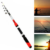 Fiber Glass 2.1-3.0m Telescopic Fishing Rod Portable Fishing Pole Travel Sea Fishing Spinning Rod