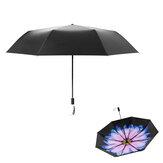 Beneunder Mini Складной зонтик от солнца и дождя UPF 50+ LRC Винил 99% UV Защитный двухслойный 386 г печати зонтик