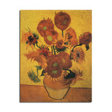 Cartel de girasol de Van Gogh Cartel de pared de papel Kraft DIY Arte de pared 18,5 pulgadas X 14 pulgadas