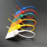 100PCSプラスチックシールセキュリティタグ番号付き引っ張りネクタイ耐タンパバックルサンプルシールストラップ