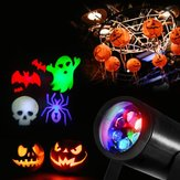 3W 4 Patterns RGB Obrotowy projektor laserowy LED Stage Light Halloween Christmas Bar Decor Lampa