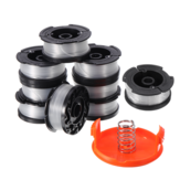 9PCS 30ft Trimmer Line AF-100 Replacement Spool Cap Cover Spring For Black and Decker String Trimmers