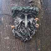Outdoor decoration Resin Statue Tree Pendant Sculpture for Home Gardening Mushroom Smiling Face