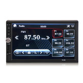 7012B 7 Inch 2 Din HD Car Rádio MP5 Estéreo Player Touch Screen Bluetooth Aux Rear Camera