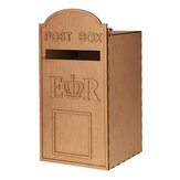 DIY MDF Wooden Wedding Post Card Box Royal Mailbox Styled For Cards With Lock