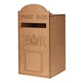 Cartão postal de casamento de madeira MDF de DIY Caixa Caixa de correio real para cartões com fechadura