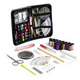91pcs kit da cucito domestico portatile di viaggio d'emergenza professionale Set cucito