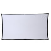 16: 9 Projector Screen Home Projection Screen Cloth Outdoor Portable Folding Simple Soft Curtain with Hook